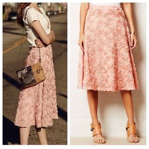 Anthropologie HD in Paris Petaluma Rose Midi Skirt